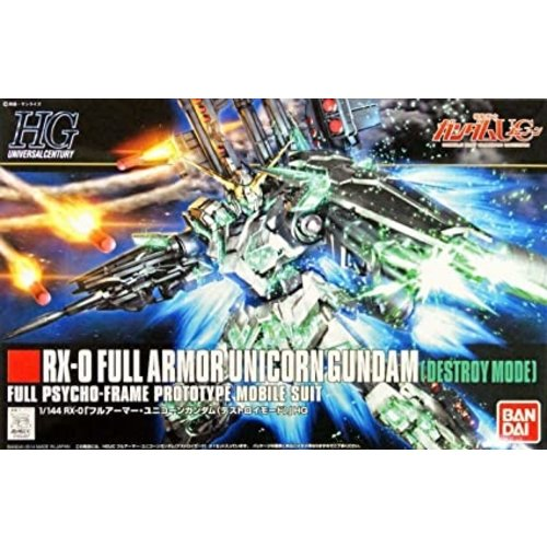Bandai Gundam HGUC 1/144 Full Armor Unicorn Gundam Destroy Model Kit 178