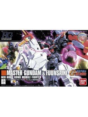 Bandai Gundam HGFC 1/144 Master Gundam & Fuunsaiki Model Kit 13cm 128