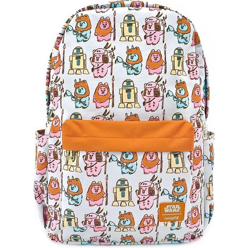 Star Wars Pastel Ewok All Over Print Nylon Backpack Loungefly 44x29x13cm