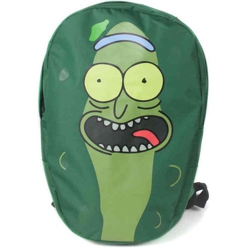 Rick and Morty Pickle Rick Shaped Backpack 45x30x12cm