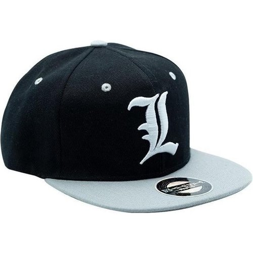 Death Note L Black & Grey Snapback Cap