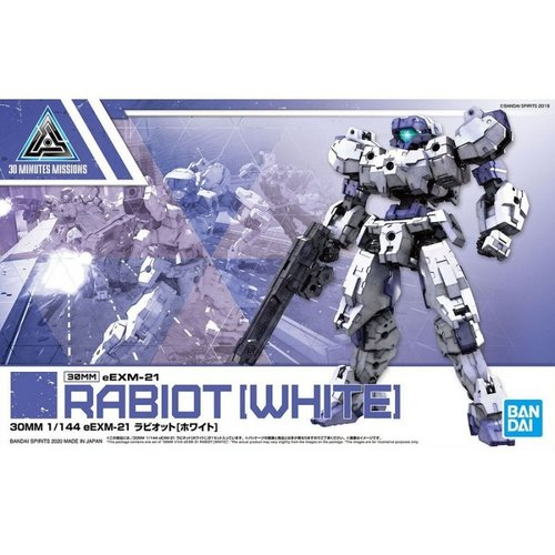Bandai Gundam 30MM 1/144 eEXM21 Rabiot White Model Kit 23