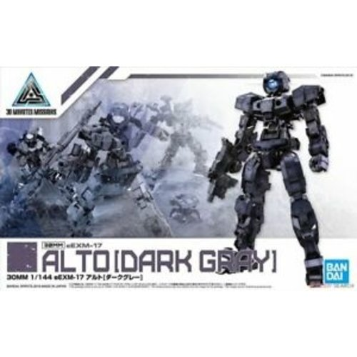 Bandai Gundam 30MM 1/144 eEXM17 Alto Dark Gray Model Kit 09