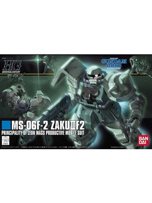 Bandai Gundam HGUC 1/144 MS-06F-2 Zaku IIF2 Zeon M.P.M.S. Model Kit 105
