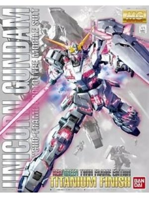 Bandai Gundam MG 1/100 Unicorn Gundam Red/Green TF Titanium Model Kit