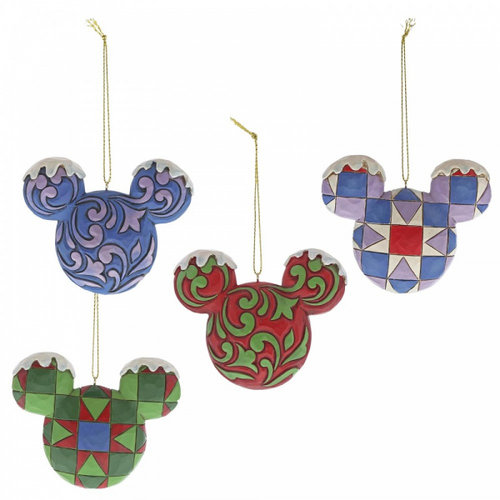 Disney Traditions Disney Traditions Mickey Mouse Head Hanging Ornament Set