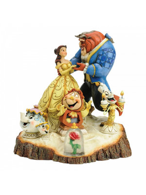 Disney Traditions Disney Traditions Tale as Old as Time (Carved by Heart Beauty and The Beast Figurine