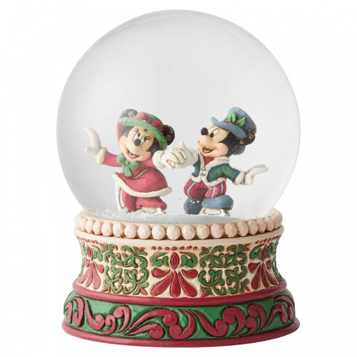 Disney Traditions Disney Traditions Splendid Skaters (Victorian Mickey and Minnie Mouse Waterbal