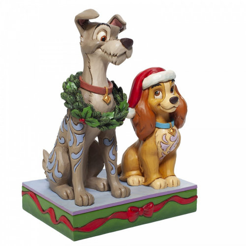 Disney Traditions Disney Traditions Decked out Dogs (Lady and the Tramp Figurine)