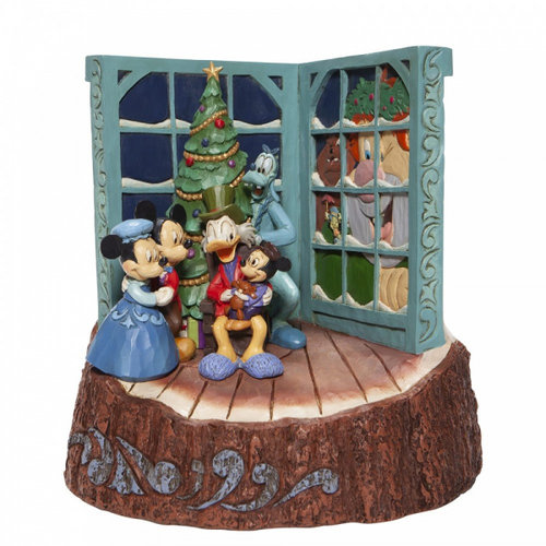 Disney Traditions Disney Traditions Carved by Heart Mickey Mouse Christmas Carol Figurine