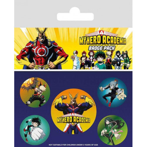 My Hero Academia Characters 5 Badge Pack Buttons