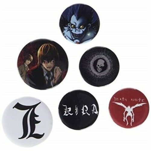Death Note 5 Badge Pack Buttons