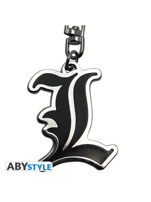 Death Note L Symbol Metal Keychain