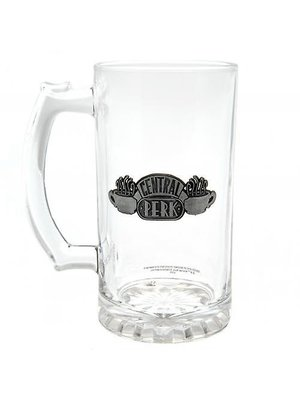 Friends Central Perk Glass Stein Metal Badge Logo 500ml