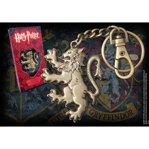 The Noble Collection Harry Potter Gryffindor Lion Keychain Noble Collection