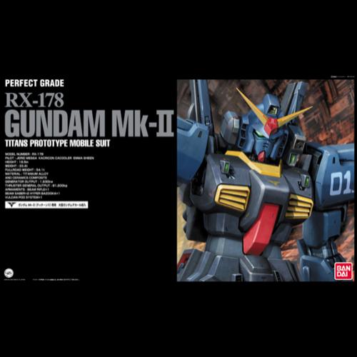 Bandai Gundam Perfect Grade Titans Black RX-178 MK II 1/60 Model Kit