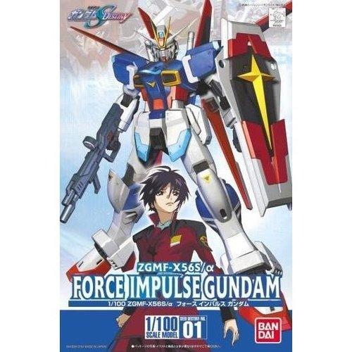 Bandai Gundam 1/100 Force Impulse Gundam Model Kit 01