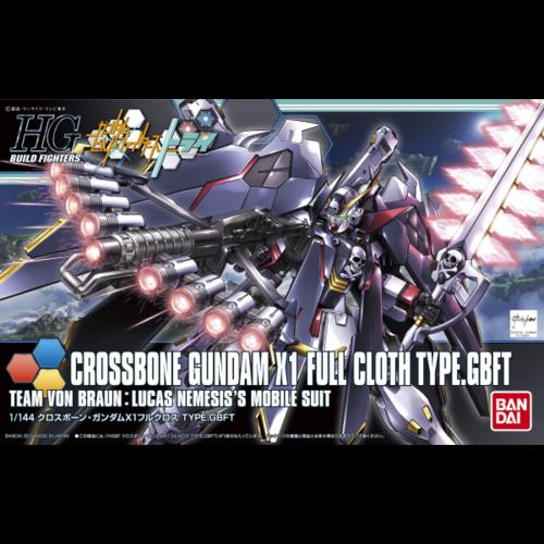 Bandai Gundam HGBF 1/144 Crossbone Gundam X1 Full Cloth Ver GBF Model Kit 035