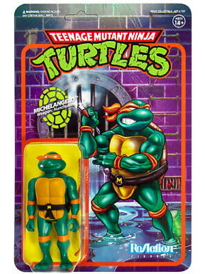 Super7 TMNT Michelangelo ReAction 3.75 inch Figure Super7