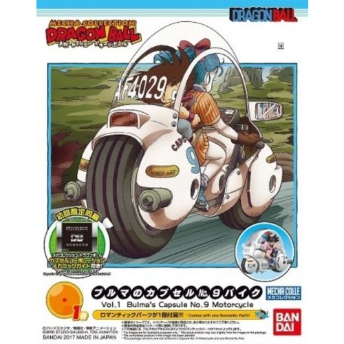 Bandai Dragon Ball Mecha Collection 01 Bulma Cap Motorcycle Model Kit