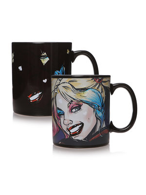 Harley Quinn Mad Love Heat Change Mug 400ml