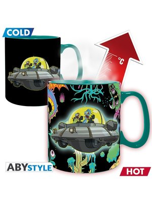 Rick and Morty Spaceship Heat Change Mug 460ml