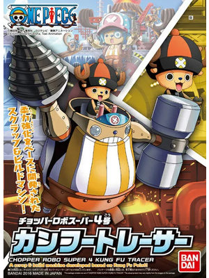 Bandai One Piece Chopper Robo Super 4 Kung Fu Tracer Model Kit 10cm