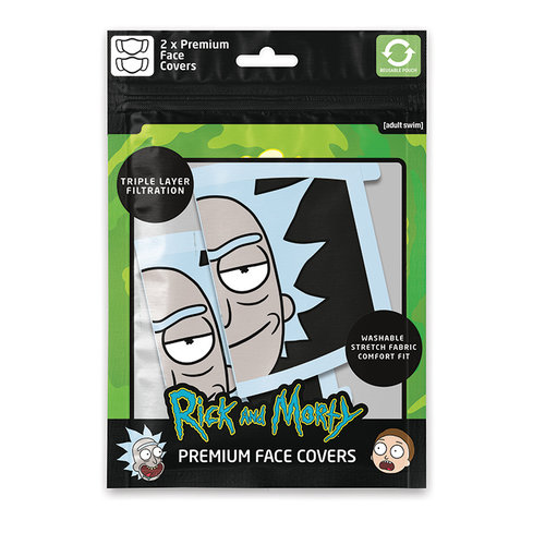 Rick and Morty Rick Premium Face Covers Set of 2