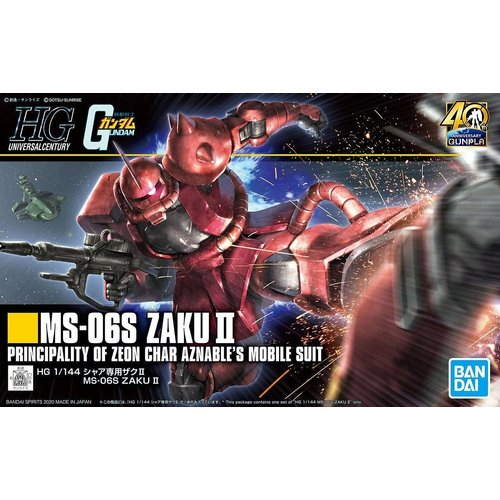 Bandai Gundam HGUC 1/144 Gunpla 40th MS-06S Zaku II Model Kit