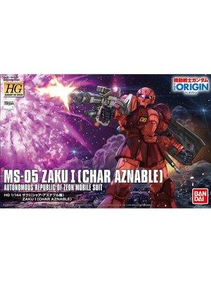 Bandai Gundam The Origin HG 1/144 MS-05S Zaku Char Aznables Model Kit 015
