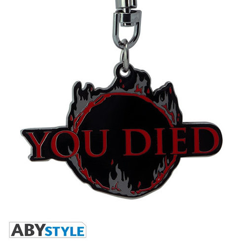 Dark Souls You Died Metal Keychain