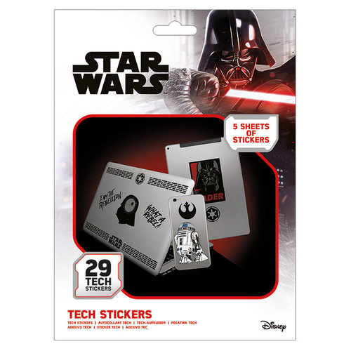 Star Wars The Force Tech Stickers Set van 29 Stickers