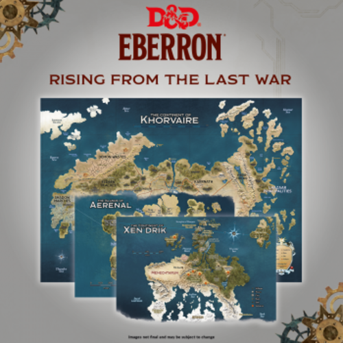 Wizards of The Coast Dungeons & Dragons D&D Eberron Map Set (3)