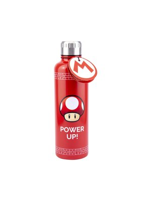Super Mario Power Up Hot / Cold Metal Bottle 600ml