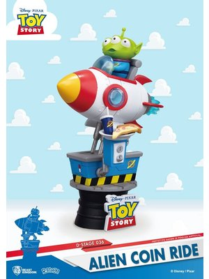 Disney Diorama Toy Story Alien Coin Ride 15cm D-Stage PVC Figure