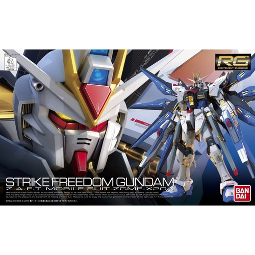 Bandai Gundam RG ZGMF-X20A Strike Freedom Model Kit 13cm