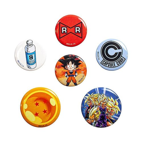 Dragon Ball Z 5 Badge Pack Buttons