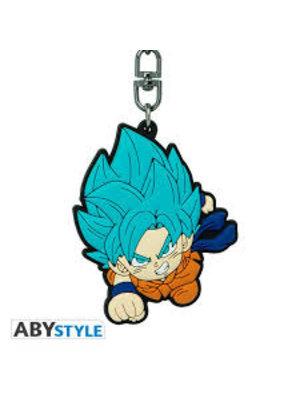 Dragon Ball Super Goku Saiyan Blue PVC Keychain