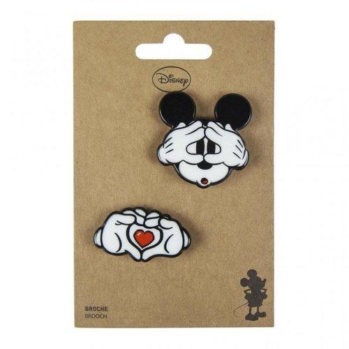 Cerda Disney Mickey Mouse Brooches (set of 2)