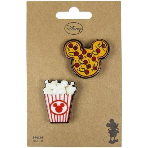 Cerda Disney Mickey & Minnie Mouse Food Brooches (set of 2)