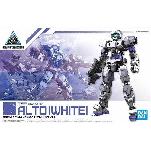 Bandai Gundam 30MM 1/144 eEXM17 Alto White Model Kit 01