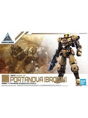 Bandai Gundam 30MM 1/144 bEXM15 Portanova Brown Model Kit 16