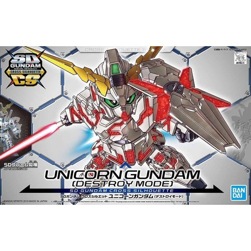 Bandai Gundam SD Cross Silhouette Unicorn Destroy Mode Gundam Model Kit 12