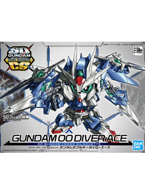 Bandai Gundam SD Cross Silhouette 00 Diver Ace Model Kit 06