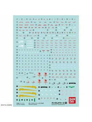Bandai Gundam RG 1/144 Decal 112 Unicorn Gundam Model Kit Decal