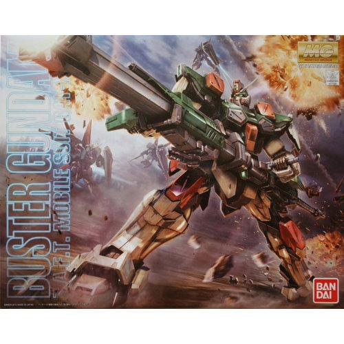 Bandai Gundam MG 1/100 Buster Gundam Z.A.F.T. Mobile Suit GAT-X103 Model Kit
