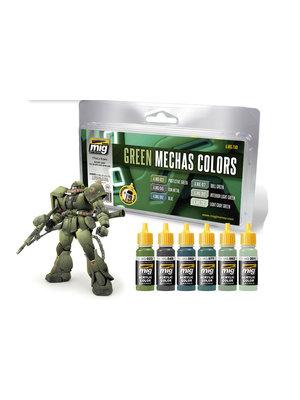 Gundam Acc Mechas Color Set Green