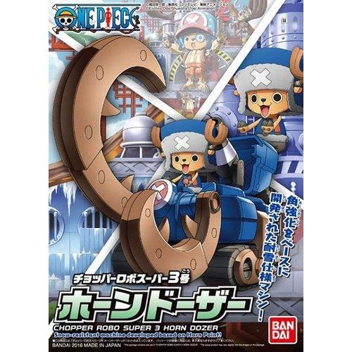 Bandai One Piece Chopper Robo Super 3 Horn Dozer Model Kit 10cm