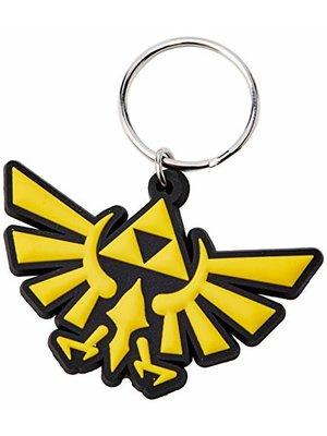Zelda Triforce Rubber Keychain
