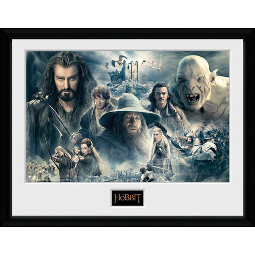 The Hobbit Characters Framed Collector Print 30x40